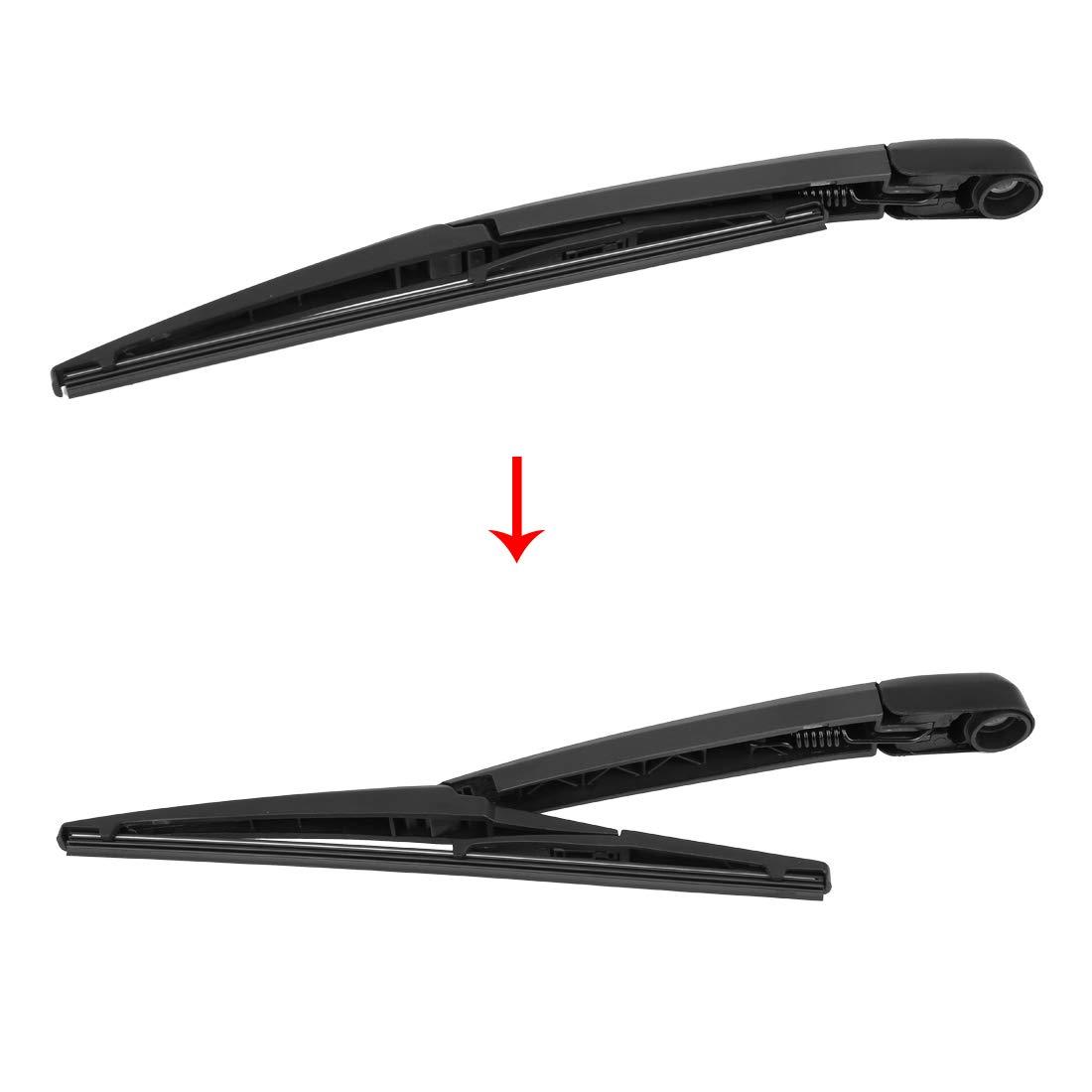 X AUTOHAUX Car Rear Window Windshield Wiper Blade Arm Set 305mm 12