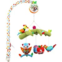 HOMYL Bed Crib Bell Roating Rattle Baby Toys 0-12 Months Crib Mobile Musical - Style-3, as described