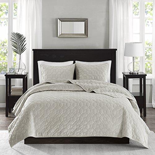Madison Park Harper Velvet Full/Queen Size Quilt Bedding Set