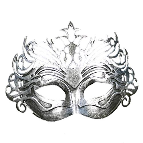 Masquerade Masks - Antique Roman Gladiator Venetian Carnival Halloween Party Mens Masquerade Mask Silver Costume Lady - Multipack Blue Blank Mardi Outfits Craft Black Hanging Bundles Pink -