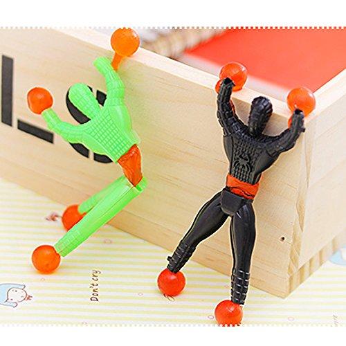 Wall-climbing Man(Pack of 10)Sticky Wall Climbing Men, Sticky Man ,Novelty Funny Children Toys Sticky Wall Climbing Men People (Random Color)