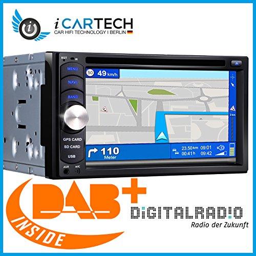 ICARTECH G650 2-DIN universal Autoradio - Mit DAB+ Tuner integriert - Smartphone Bildschirmspiegelung - GPS Navigation - 800x480 Touchscreen - DVD USB SD