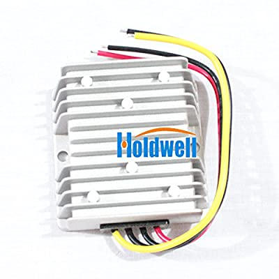 Holdwell Voltage Reducer Converter Regulator 48 Volt to 12V 10A Waterproof for Golf Cart