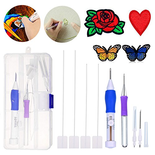 Review Of Embroidery Punch Needle, KKtick Magic Embroidery Pen Set Craft Tool for DIY Threaders Sewi...
