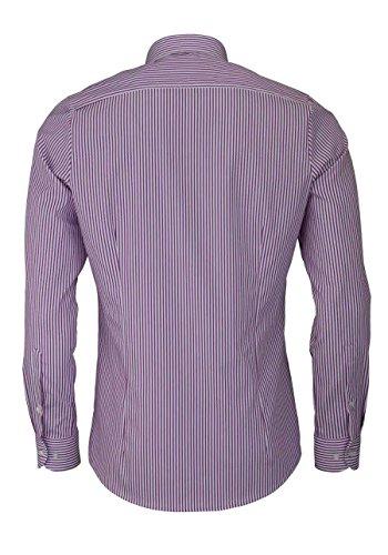 OLYMP Level Five body fit Hemd extra langer Arm Streifen azalee AL 69