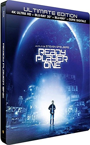Ready Player One   Ultimate Limited Edition Steelbook   4K Hdr  Blu Ray 3D   Blu Ray