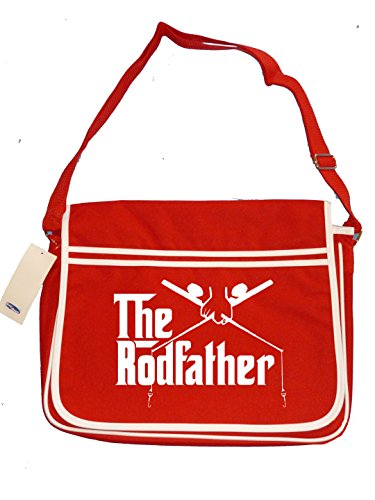 Fisher Retro Bag Red Men's Fishing Messenger Spoof Rodfather Shoulder King 5B4qwBI