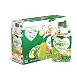 Happy Tot Organic Stage 4 Baby Food, Love My Veggies, Zucchini/Pear/Chickpeas & Kale, 4.2 Ounce (Pack of 8)