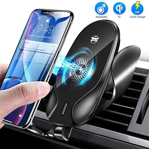 Jojobnj Cargador Inalámbrico Coche, Fast Wireless Car Charger Soporte Ajustable, 7.5W para iPhone 11/11Pro/XS/XR/X/8/8…