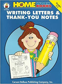 Writing Letters & Thank-You Notes: Grades 2-5 (Home Workbooks)
