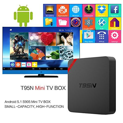 [2016 NEW!] Nansii T95N Mini MX+ Android 5.1 TV Box Streaming Media Player Quad Core Mali 450 1GB/8GB Amlogic