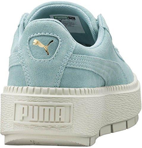 6 PUMA Flower Trace US Women's B Suede Aquifer Blue Platform 1rcv1qw0