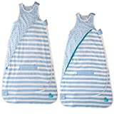 Loved to Dream (2 Pack) Baby Sleeping Bag Cotton Swaddle Bag for Babies Wearable Blanket Sleep Sack 4-12 Months