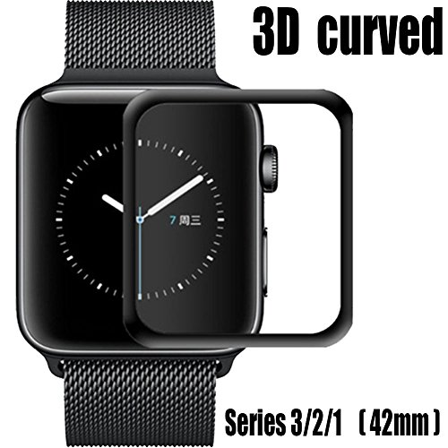 for Apple Watch Screen Protector 42mm,Tempered Glass Screen Protector, Anti-Scratch Scratch Resistant Full Coverage Scratch-Proof Screen Film for Apple iWatch 42mm Series 1/2/3