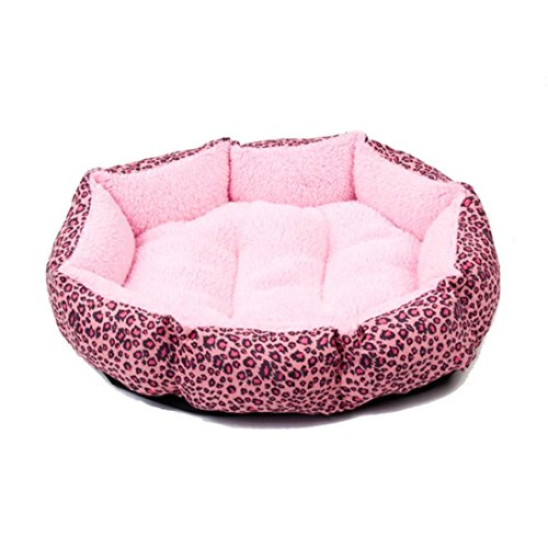 Pet Blanket,Tuscom@ Puppy Cat Warm Bed Plush Cozy Nest (41cmX37cmX12cm, pink) ()