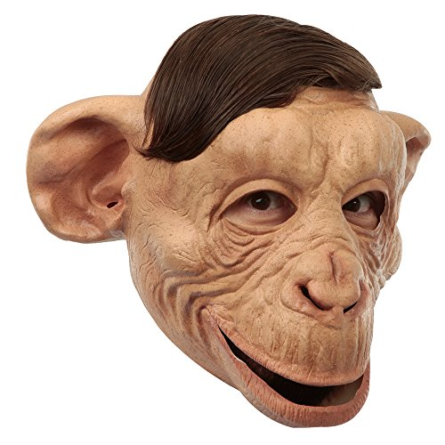 Ghoulish Monkey Face Caricature Latex Head Mask Halloween Fancy Dress Fun]()
