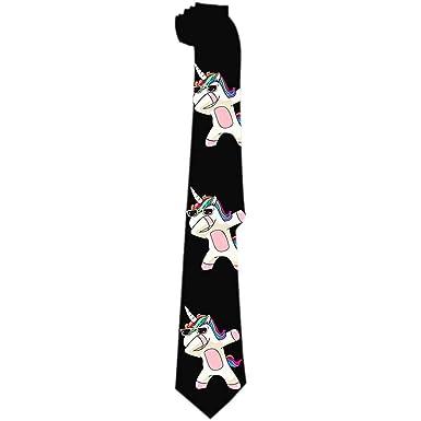 Lzz-Shop Corbata de unicornio para hombre Cool Unicornio Dabbing ...