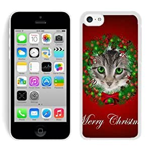2014 Newest iphone 5s PC Case Christmas Cat White iphone 5s Case 47