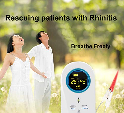 ATANG Rhinitis Therapy Machine Allergy Reliever Laser Hay Fever Sinusitis Treatment Device Nose Care Massager Machine