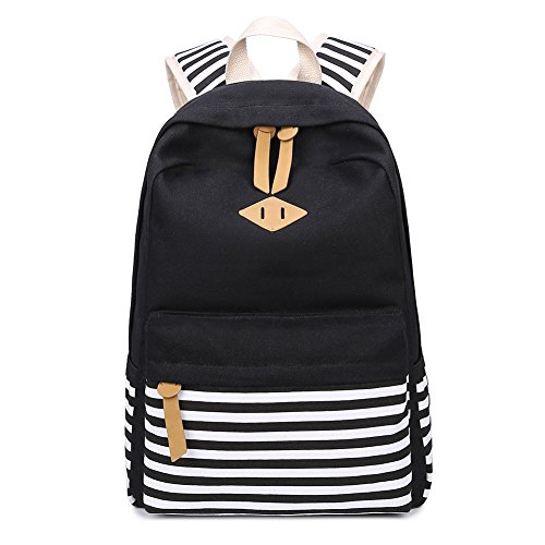 Abshoo Causal Canvas Stripe Backpack Cute Lightweight Teen