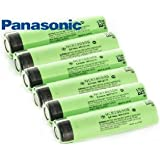 6PCS 18650 NCR18650B 3.7V 3400mAh Rechargeable Li-ion Battery Flat Top for Panasonic WITH 3 HARD PLASTIC CASES FOR EASIER STORAGE AND TRANSPORT **BONUS** 3 FREE CASES