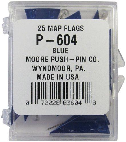 Moore Push-Pin Dark Blue Pennant Map Flags (P-604) - Moore Push Pin