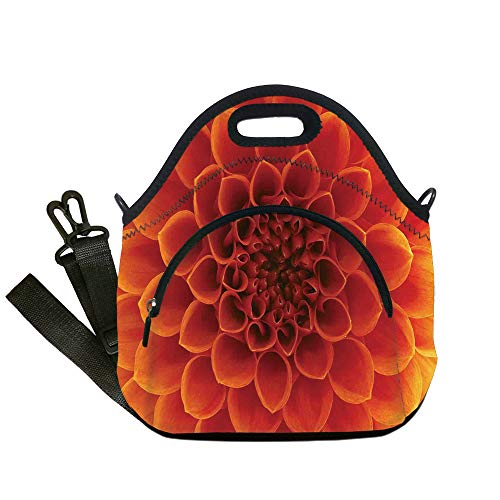 Insulated Lunch Bag,Neoprene Lunch Tote Bags,Abstract Home Decor,Abstract Flower and Petals Seasonal Blossom Closeup Picture Gardens Decorative,for Adults and children from iPrint