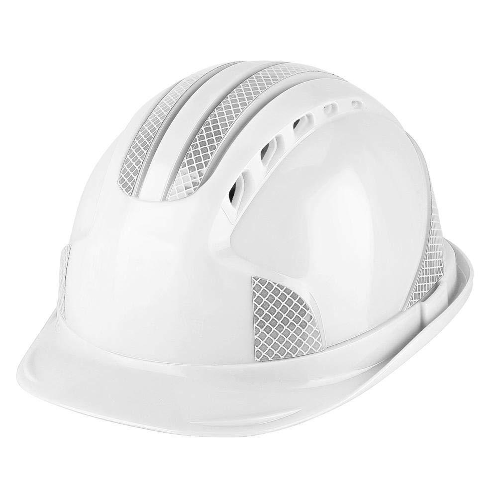 Azul Ventilar ABS Trabajador de construcci/ón Obra Protectora Casco de Seguridad con Franja Reflectante Boquite Casco