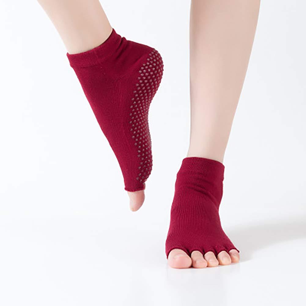 YOUNICER Frauen Socken Non Slip Pilates Barre Griffe Ballett Yoga Pilates Barre Zehensocken