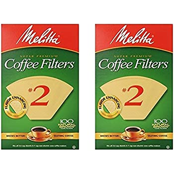 Cone Coffee Filter #2 - Natural Brown 100 Count (2 Pack)