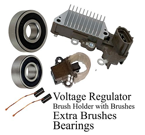 Alternator Rebuild Kit Compatible with 1999-2002 Land Cruiser LX470; Voltage Regulator 13856RK Brushes /& Bearings