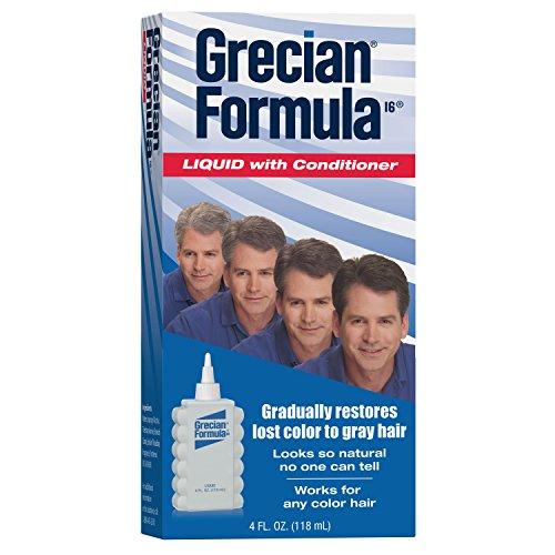 Grecian Formula 16 Liquid - Grecian Formula Hair Color with Conditioner for Men, Liquid, 4 Ounce