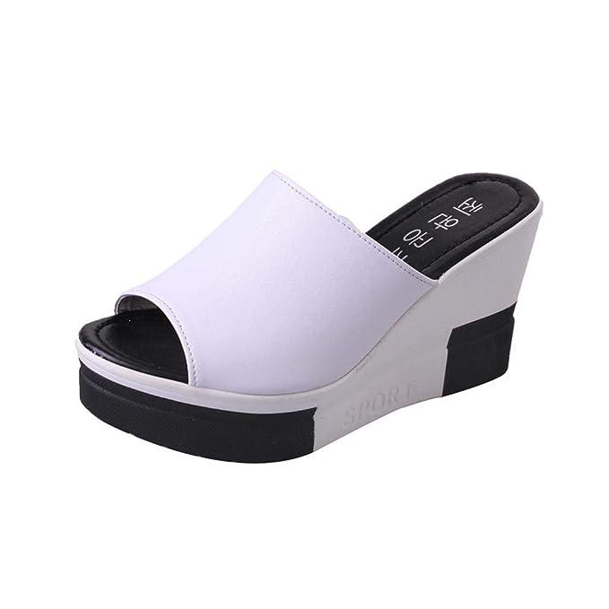 Covermason Zapatos Sandalias mujer verano 2018, mujer Sandalias de verano Zapatos peep-toe: Amazon.es: Ropa y accesorios