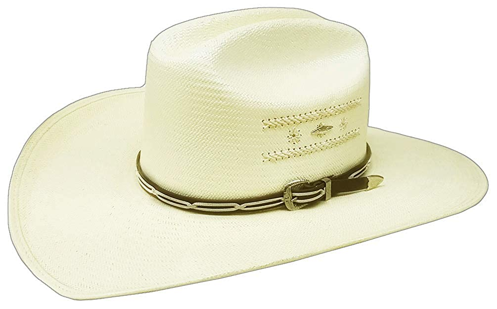Modestone 50X Rope Embroidery Bangora Straw Chapeaux Cowboy for Small Heads