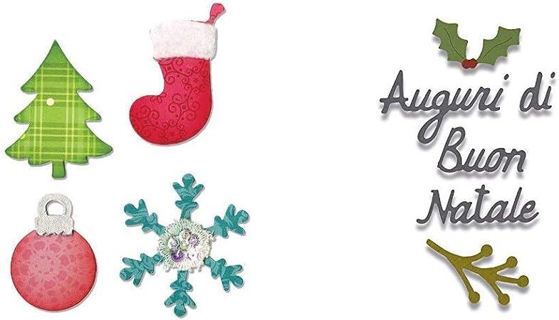 Albero Di Natale Auguri.Sizzix Allstar Fustella Albero Di Natale Ornamenti 662156 Fustella Auguri Di Buon Natale Best Christmas Wishes Amazon It Casa E Cucina