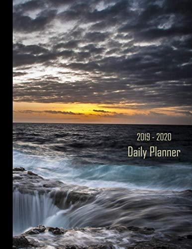 2019 - 2020 Daily Planner: Coastlines Ocean Waterfall Cover | January 19 - December 19 | Writing Notebook | Diary Journal | Datebook Calendar Schedule | Plan Days, Set Goals ()