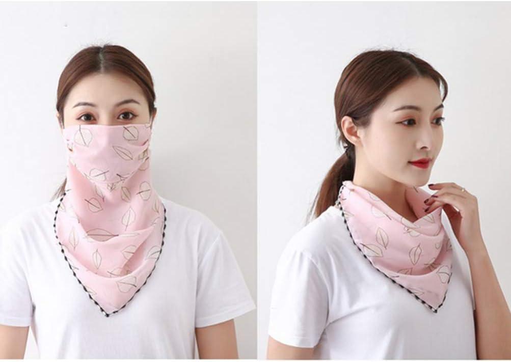 transpirable PRETYZOOM para verano para cubrir la boca y el cuello Pa/ñuelo para el cuello con estampado de flores para exteriores para mujer cortavientos