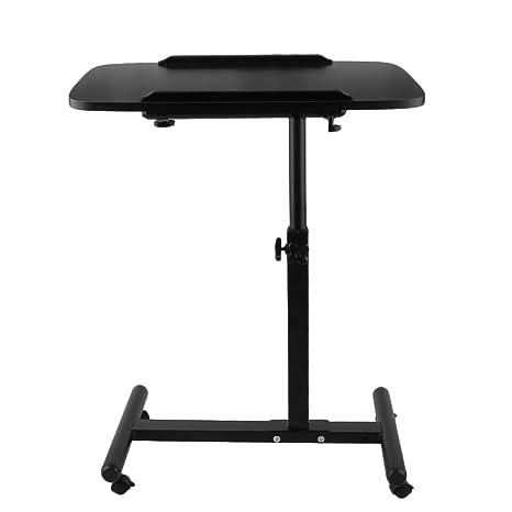 Homgrace Mesa de Ordenador Portátil con Ruedas, Altura Ajustable, Carga máxima 10 kg para