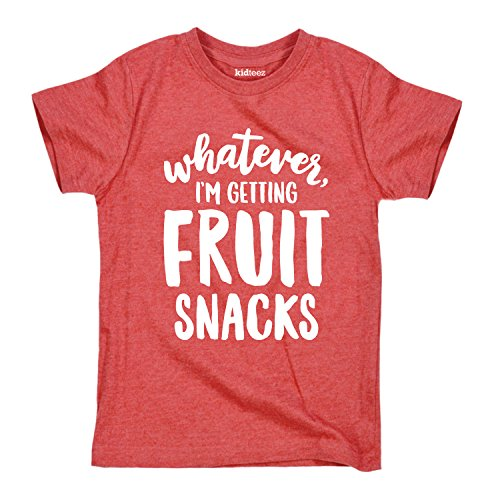 Instant Message Whatever Im Getting Fruit Snacks -Cute Toddler Short Sleeve TEE-2T Heather Red
