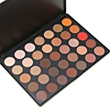 Preup 35 color nature glow eyeshadow Make up Waterproof palette-Neutrals Warm Smooth Eye Shadows