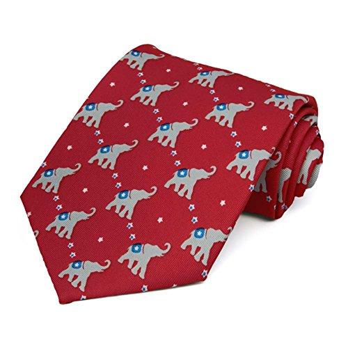 TieMart Republican Elephant Necktie