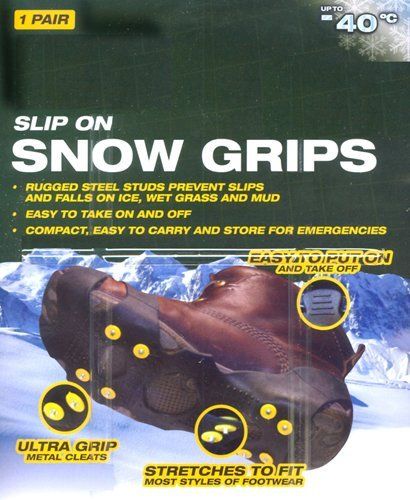 Snow Ice Shoe Grip Cleats Anti Slip For Winter Conditions Medium Shoe Size 6 - 9 Speeding B8-AMTV-KC4A