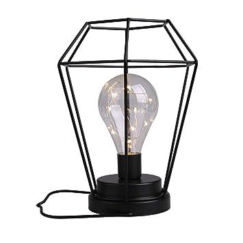 Amazon.com: Lámpara de mesa con forma de diamante, funciona ...