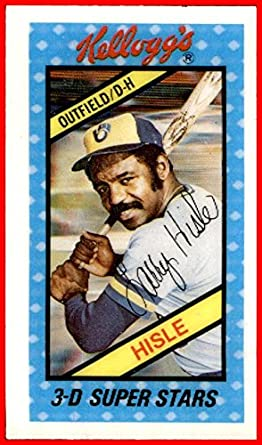 1980 Kelloggs 22 Larry Hisle Milwaukee Brewers Nrmt At
