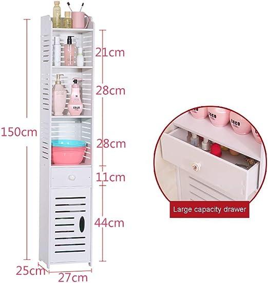 LOHOX Mueble Columna de baño Armario para Baño Impermeable Estante ...