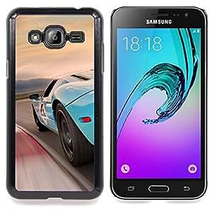"Qstar Arte & diseño plástico duro Fundas Cover Cubre Hard Case Cover para Samsung Galaxy J3(2016) J320F J320P J320M J320Y (F0rd GT Supercar"")"