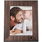 Photo : NIX Lux 8 Inch Hi-Res Digital Photo & HD Video Frame (Non-WiFi), With Hu-Motion Sensor – Wood (X08F)