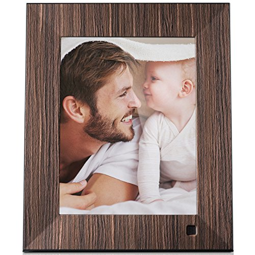 - NIX Lux 8 Inch Hi-Res Digital Photo & HD Video Frame (Non-WiFi), With Hu-Motion Sensor – Wood (X08F)