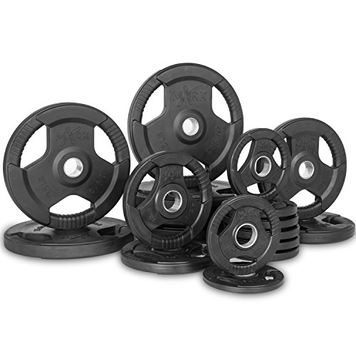 XMark Fitness XM-3377-BAL-355 Rubber Coated Olympic Plates