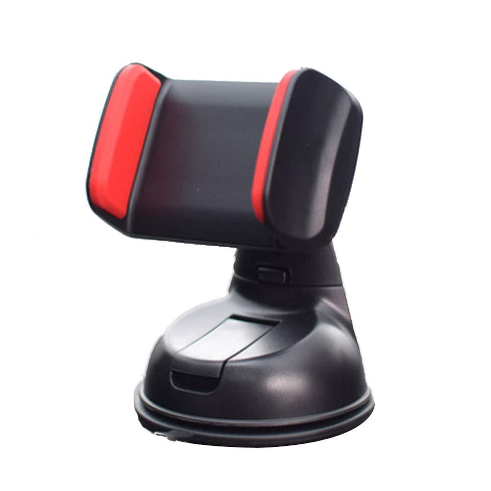 Windshield and Air Vent Compatible iPhone X// 8// 8PLUS// 7 //Android and More JP101202 Red Car Phone Mount with One More Air Vent Base,AOGOGO Universal Cell Phone Holder for Dashboard